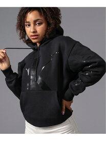 [Rakuten Fashion]CALVIN KLEIN JEANS/(W)シャイニーロゴプリント スウェットフーディー Calvin Klein Jeans カルバン・クライン カットソー パーカー ブラック【送料無料】