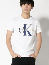 【SALE/50%OFF】【カルバン クライン ジーンズ】 CK ロゴ クルーネック Tシャツ Calvin Klein Jeans カルバン・クライン カットソー Tシャツ ホワイト ブラック【RBA_E】【送料無料】[Rakuten Fashion]