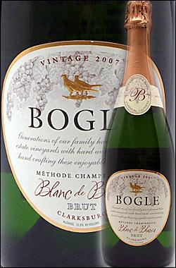 《ボーグル》ブラン・ド・ブランブリュット,メトード・シャンプノワーズ・スパークリングワインクラークスバーグ[2007]BogleVineyardsBlancdeBlancSparklingWineMethodeChampenoiseClarksburg750ml[白泡カリフォルニアワイン]