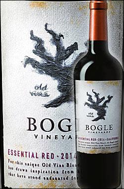 《ボーグル》 エッセンシャル・レッド カリフォルニア [2015] (ジンファンデル+シラー+カベルネソーヴィニヨン+プティシラー) Bogle Vineyards Essential Red California 750ml (Old Vine Zinfandel, Syrah, Cabernet Sauvignon & Petite Sirah) カリフォルニアワイン