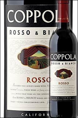 《コッポラ ロッソ&ビアンコ》 ロッソ (ジンファンデル+カベルネソーヴィニヨン+シラー等) [2014] フランシスフォードコッポラ ワイナリー Francis Ford Coppola Rosso & Bianco (Zinfandel, Cabernet Sauvignon etc.) California 750ml [赤ワイン カリフォルニアワイン]