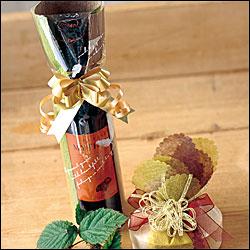 ●ワインラッピング袋《華やかなメタリックゴールドの「フレンチボウ」リボン代込み》ギフトプレゼントお祝い贈り物ご贈答お中元お歳暮お祝い返しに(ギフトラッピングのみの販売はできません)