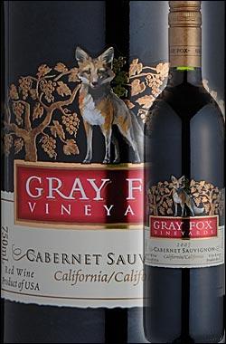 《グレイフォックス》 カベルネ・ソーヴィニョン カリフォルニア [2016] Gray Fox Vineyards Cabernet Sauvignon California 750ml [赤ワイン カリフォルニアワイン] スクリューキャップ