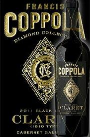 《コッポラ ダイヤモンドコレクション》 クラレット カリフォルニア [2018] フランシスフォードコッポラ ブラックラベルFrancis Ford Coppola Winey Diamond Collection Claret California Black Label 750ml カベルネソーヴィニヨン主体赤ワイン 誕生日プレゼント