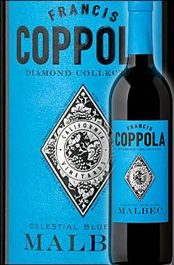 《コッポラ ダイヤモンド・コレクション》 マルベック カリフォルニア [2016] フランシスフォードコッポラ セレスティアル ブルーラベル Francis Ford Coppola Winey Diamond Collection Malbec California Celestial Blue Label 750ml [赤ワイン カリフォルニアワイン]