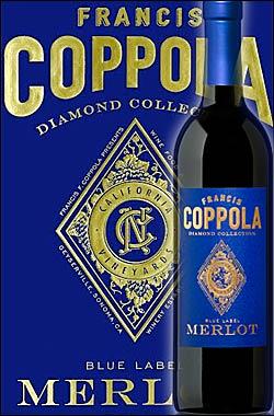 《コッポラ ダイヤモンドコレクション》 メルロー カリフォルニア [2016] フランシスフォードコッポラ ブルーラベル Francis Ford Coppola Winey Diamond Collection Merlot California Blue Label 750ml [赤ワイン カリフォルニアワイン]