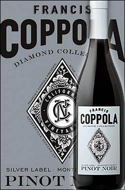 《コッポラ ダイヤモンド・コレクション》 ピノノワール モントレー [2016] フランシスフォードコッポラ シルバーラベルFrancis Ford Coppola Winey Diamond Collection Pinot Noir Monterey Silver Label 750ml [赤ワイン カリフォルニアワイン]