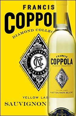 《コッポラ ダイヤモンド・コレクション》 ソーヴィニョンブラン カリフォルニア [2017] フランシスフォードコッポラ イエローラベル Francis Ford Coppola Winey Diamond Collection Sauvignon Blanc California Yellow Label 750ml [白ワイン カリフォルニアワイン]