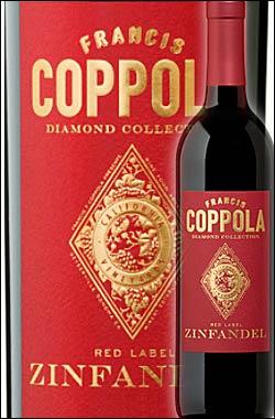 《コッポラ ダイヤモンドコレクション》 ジンファンデル カリフォルニア [2015] フランシスフォードコッポラ レッドラベルFrancis Ford Coppola Winey Diamond Collection Zinfandel California Red Label 750ml [赤ワイン カリフォルニアワイン]