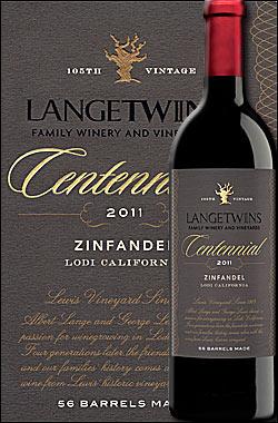"""《ラングツインズ》 ジンファンデル """"センテニアル"""" ルイス・ヴィンヤード, ロダイ [2011] Lange Twins Famirly winery & Vineyards Zinfandel Centennial Lewis Vineyard, Lodi, California 750ml [ロウダイ ローダイ赤ワイン カリフォルニアワイン]"""