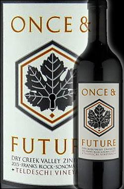 """《ワンス&フューチャー》 ジンファンデル """"テルデスキ・ヴィンヤード, フランクス・ブロック"""" ドライ・クリーク・ヴァレー [2015] Once & Future Wine Zinfandel Teldeschi Vineyard, Frank's Block, Dry Creek Valley 750ml [赤ワイン カリフォルニアワイン]"""