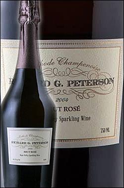 《リチャード・G. ピーターソン by アミューズブーシュ》 スパークリングワイン ロゼ・ブリュット, ヨントヴィル, ナパ・ヴァレー [2005] Richard G. Peterson by Amuse Bouche Brut ROSE Sparkling Wine Yountville, Napa Valley 750ml [ロゼ泡 カリフォルニアワイン]