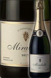 《シュラムスバーグ》 ミラベル ブリュット ノースコースト [NV] (シャルドネ+ピノ・ノワール) Schramsberg Mirabelle Brut North Coast シュラムズバーグ 750ml [白泡 シャンパン式瓶内二次発酵スパークリングワイン カリフォルニアワイン 産地:ナパヴァレー+ソノマ他]