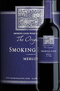 《スモーキングルーン》 メルロー カリフォルニア [2014] (ドン・セバスチャーニ&サンズ) Smoking Loon Wine Co. Merlot California (by Don Sebastiani & Sons) 750ml [赤ワイン カリフォルニアワイン] スクリューキャップ