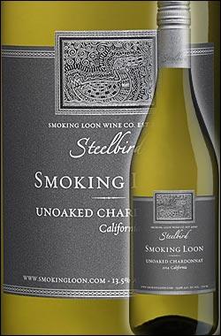 《スモーキングルーン》 アンオークド シャルドネ (オーク使用無し) スティールバード カリフォルニア [2016] (ドン セバスチャーニ&サンズ) Smoking Loon Wine Co. Steelbird Unoaked Chardonnay California 750ml [白ワイン カリフォルニアワイン] スクリューキャップ