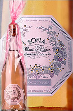 《ソフィア コッポラ》 ブラン・ド・ブラン スパークリングワイン [2017] フランシス フォード コッポラ Francis Ford Coppola Winery Sofia Blanc de Blancs Sparkling wine Monterey 750ml [白ワイン(白泡) カリフォルニアワイン]