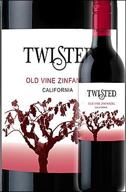 《ツイステッド》 オールドヴァイン・ジンファンデル カリフォルニア [2015] Twisted Wines Zinfandel California 750ml※スクリューキャップ [ツイスティッド赤ワイン カリフォルニアワイン] AF_wineselection