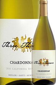 """《スリーシーヴズ》 シャルドネ """"カリフォルニア"""" リパブリック [2017] Three Thieves Chardonnay Republic California -BIELER・GOTT・SCOMMES- 750ml スリーシーブス白ワイン カリフォルニアワイン専門店あとりえ プレゼントにも"""