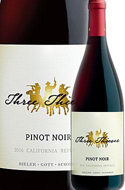 """《スリーシーヴズ》ピノノワール""""カリフォルニア""""リパブリック[2017]ThreeThievesPinotNoirRepublicCalifornia-BIELER・GOTT・SCOMMES-750ml[カリフォルニアワインスリーシーブス赤ワイン]"""