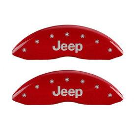 【車種専用設計】JEEP/ジープ GrandCherokee/グランドチェロキー ブレーキキャリパーカバー ジープロゴ レッド 4PC '11y-'15y【BRYブレーキシステム車】【アメ車パーツ】