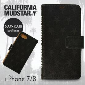 2fca298fd0 CALWING x CALIFORNIAMUDSTAR/カリフォルニアマッドスター コラボ 高級カリフォルニアブランド 手帳型 アイフォンケース  スマホケース 携帯ケース Bタイプ iPhone7/8