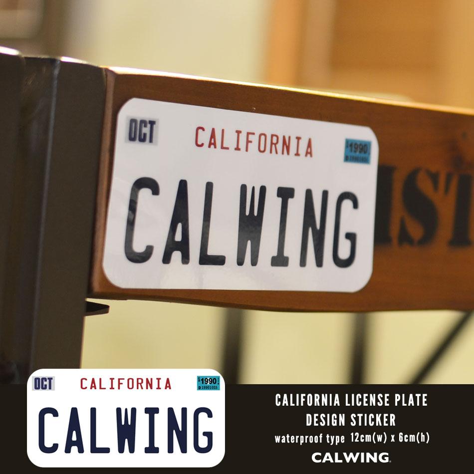 【キャルウイングオリジナル】 防水 80'sナンバープレートタイプステッカー カリフォルニア州 CARIFORNIA ホワイト 80'sモデル '87y〜'92y CALWING文字 アメリカ西海岸 ロサンゼルス カリフォルニア インテリア雑貨 ファッション雑貨 おしゃれ雑貨 アメリカ雑貨
