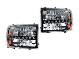 エクスカージョン ヘッドライト&パークシグナルランプ ブラック LEDポジションランプ '00y〜'05y
