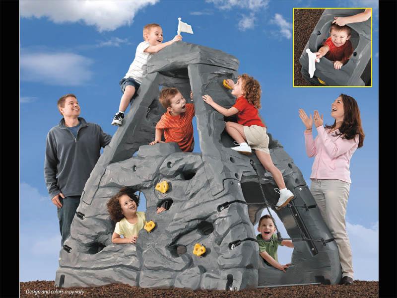 【保育園 幼稚園】STEP2 ステップツー スカイワード サミット ロッククライミング グレー【玩具 おもちゃ 遊具】
