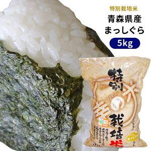 【青森県産特別栽培米 まっしぐら5kg】2020年度産 農薬・化学肥料を5割以下に減らした特別栽培米!一粒一粒が主張して、しっかりもっちりとした食感と甘さ♪[※SP]