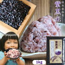 健康を食べよう!毎日の白米に混ぜて炊くだけ 送料無料 【青森県産特別栽培米 紫黒米 1kg】 玄米 しこくまい 米 古代…