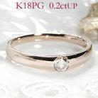 K18PG【0.21ct】ブラウンダイヤモンドリング