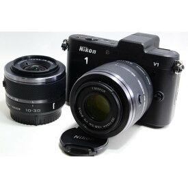 ニコン Nikon V1 ブラック ダブルズームキット 美品 新品SDカード付き