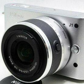 ニコン Nikon J1 シルバー レンズキット 美品 新品SDカード、ストラップ付き