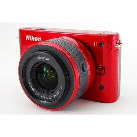 ニコン Nikon J1 レッド レンズキット 美品 新品SDカード付き