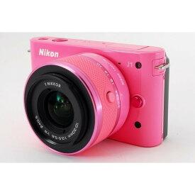 ニコン Nikon J1 ピンク レンズキット 美品 新品SDカード、元箱付き