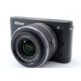 ニコン Nikon J2 ブラック レンズキット 美品 新品SDカード、ストラップ付き