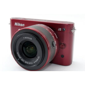 ニコン Nikon 1 J2 レンズキット レッド 美品 ミラーレス一眼始めるならこれ 元箱、新品SDカード、ストラップ付き