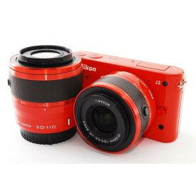 ニコン Nikon J2 オレンジ ダブルレンズキット 美品 新品SDカード付き