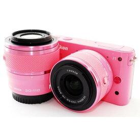 ニコン Nikon J1 ピンク ダブルレンズキット 美品 新品SDカード付き