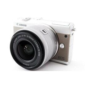 キヤノン Canon EOS M100 レンズキット グレー 美品 スマホより鮮やか感動画質ストラップ付