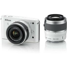 ニコン Nikon J1 ダブルズームキット ホワイトN1 J1WZ WH 新品SDカード付き
