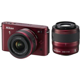 ニコン Nikon J2 ダブルズームキット レッド N1J2WZRD SDカード付き