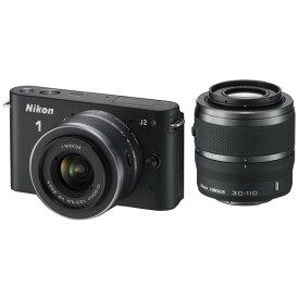 ニコン Nikon J2 ダブルズームキット ブラック 新品SDカード付き