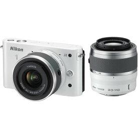 ニコン Nikon J2 ダブルズームキット ホワイト N1J2WZWH 新品SDカード付き