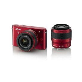 ニコン Nikon J1 ダブルズームキット レッド 新品SDカード付き