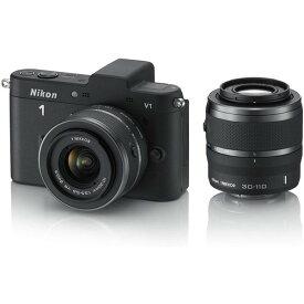 ニコン Nikon V1 ダブルズームキット ブラック N1 V1WZ BK 新品SDカード付き