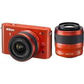ニコン Nikon J2 ダブルズームキット オレンジ N1J2WZOR SDカード付き