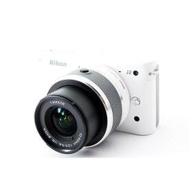 ニコン Nikon J2 ホワイト レンズキット 美品 SDカード付き