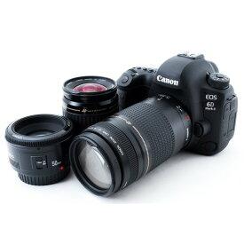 【7/19~26 エントリーで最大ポイント10倍&クーポンで最大4000円OFF!!】キヤノン Canon EOS 6D Mark II 標準&超望遠&単焦点トリプルレンズセット 8GB SDカード付き