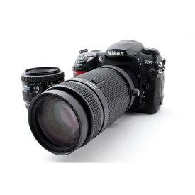 【5/9~16 クーポンで最大4000円OFF!!】ニコン Nikon D200 標準&超望遠ダブルズームセット 美品 一眼レフ初心者に最適 ストラップ付き
